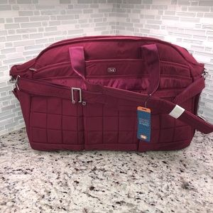 Lug Airbus duffle bag Cranberry Read Description